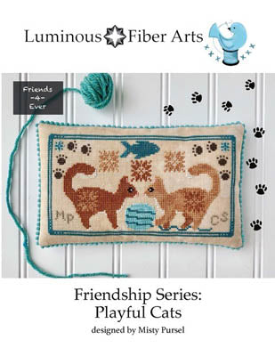 Luminous Fiber Arts ~ Friendship Series - Playful Cats