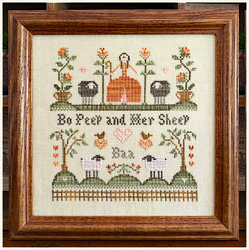 Little House Needleworks ~ Bo Peep And Her Sheep