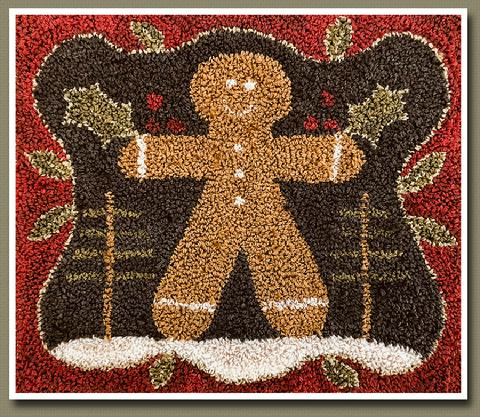 Little House Needleworks ~ Gingerbread Man Punchneedle