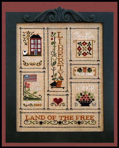 Little House Needleworks ~ Heart Of America (Chart Only)