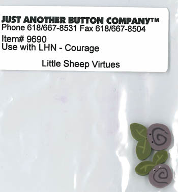 Little House Needleworks ~ JABC Buttons Courage ~  Little Sheep Virtues