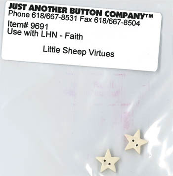 Little House Needleworks ~ JABC Buttons Faith ~  Little Sheep Virtues