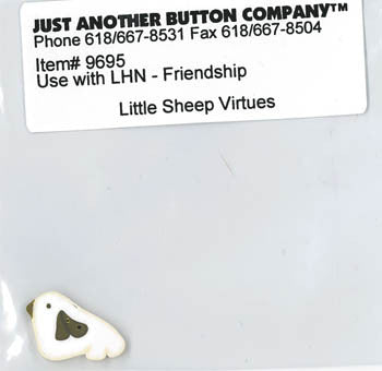 Little House Needleworks ~ JABC Button Friendship ~  Little Sheep Virtues
