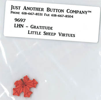 Little House Needleworks ~ JABC Button Gratitude ~  Little Sheep Virtues