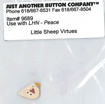 Little House Needleworks ~ JABC Button Peace ~  Little Sheep Virtues
