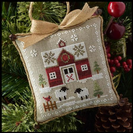 Little House Needleworks ~ Farmhouse Christmas #1 Little Red Barn