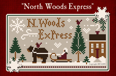 Little House/CC ~ North Woods Express w/5 skeins of floss