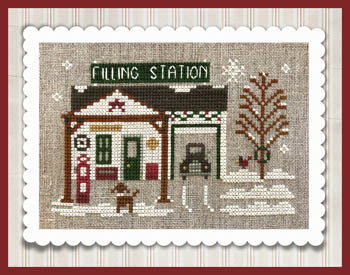 Little House Needleworks ~ Hometown Holiday Pop's Filling Station