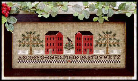 Little House Needleworks ~ Two Red Houses