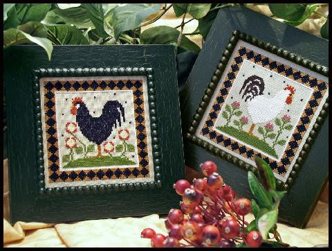 Little House Needleworks ~ Two Roosters