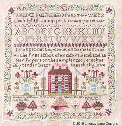 Lindsay Lane Designs ~ Miss Kelly's School Sampler