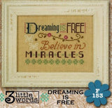 Lizzie Kate Flip-Its ~ 3 Little Words ~ Dreaming Is Free
