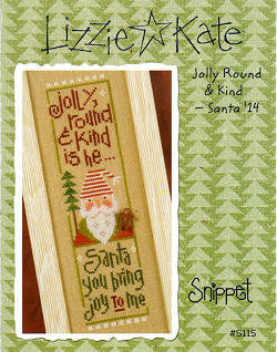 Lizzie Kate Snippets ~ Jolly Round & Kind Santa w/button