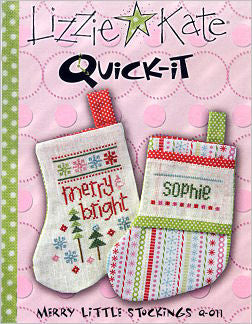 Lizzie Kate Snippets ~ Merry Little Stockings Quick-It w/button