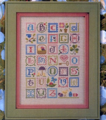 Lizzie Kate Charts ~ Spring Alphabet w/embs