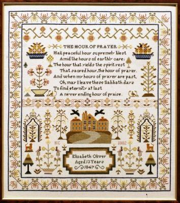 Moira Blackburn Designs ~ Elizabeth Oliver Sampler