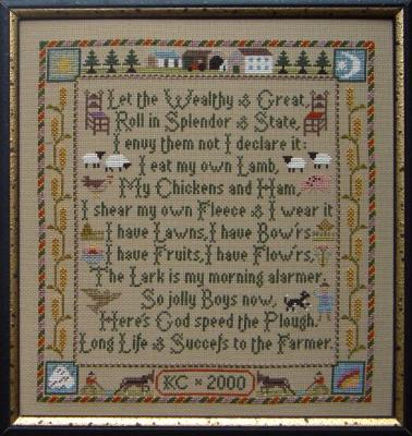 Moira Blackburn Designs ~ Farmers Prayer Sampler