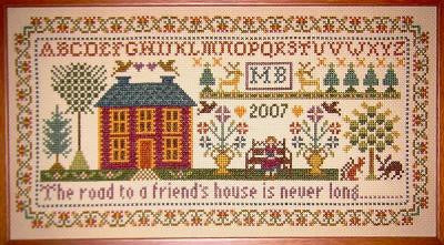 Moira Blackburn Designs ~ Friends House Sampler