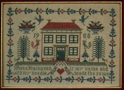 Moira Blackburn Designs ~ Red Roof House Sampler