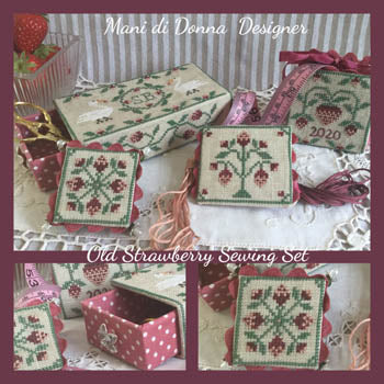 Mani di Donna ~ Old Strawberries Sewing Set