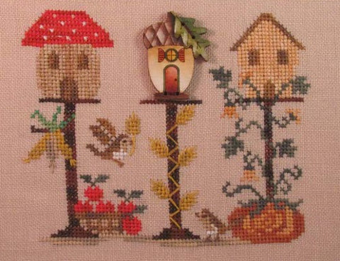 Mani di Donna ~ Autumn Birdhouse w/button