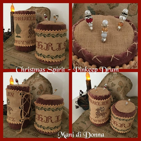 Mani di Donna ~ Christmas Spirit Pinkeep Drum