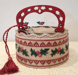 Mani di Donna ~ Holly Sewing Basket (includes handle)
