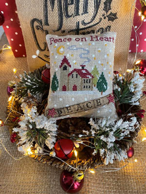 Mani di Donna ~  Peace On Heart Pillow