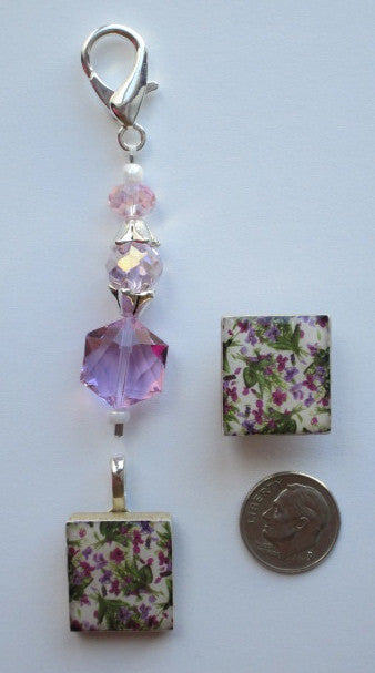 Violets Mini Fob & Magnet Set