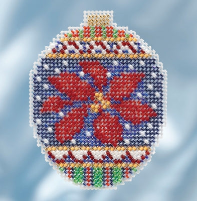Mill Hill Kits ~ Beaded Ornaments - Christmas Poinsettia
