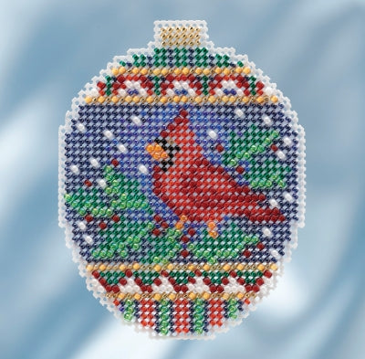 Mill Hill Kits ~ Beaded Ornaments - Crimson Cardinal