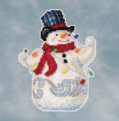Mill Hill Kits ~ Jim Shore Snowman with Lights