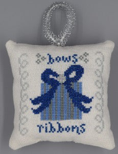 Misty Hill Studio ~ Bows And Ribbons (Blue & Silver Christmas)