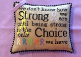 Needle Bling Designs ~ Courageous & Strong