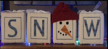 Needle Bling Designs ~ Frosty's Snow
