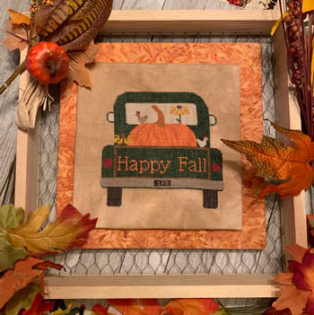 Needle Bling Designs ~ Rearview - Pumpkin