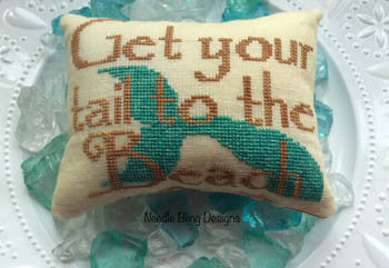 Needle Bling Designs ~ Get Your Tail to the Beach