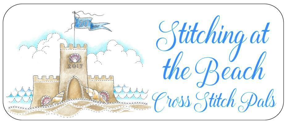 Cross Stitch Pals Stitching at the Beach Needle Slide