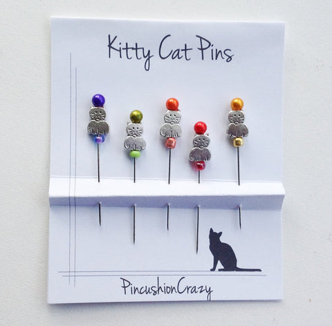 Counting/Marking Pin Sets ~ Kitty Cats