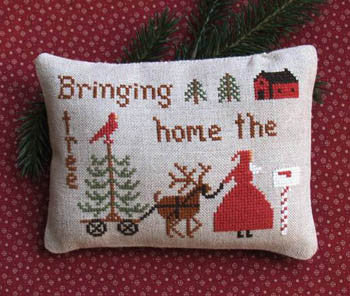 Primitive Needleworks ~ Bringing Home the Tree