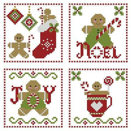 Plum Pudding Needleart ~ Gingerbread & Candy Canes