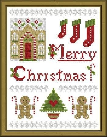 Plum Pudding Needleart ~ More Gingerbread & Candy Canes