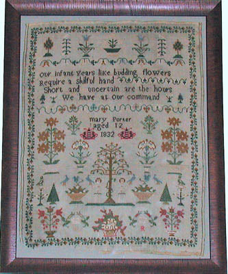 Praiseworthy Stitches ~ Mary Porter 1832