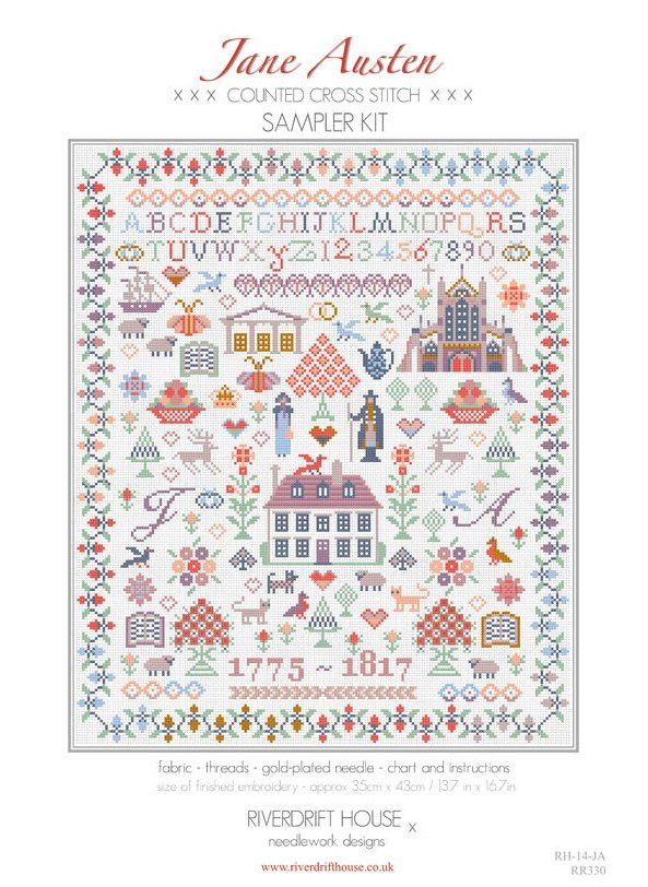 Riverdraft House ~ Jane Austen Sampler