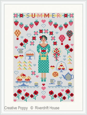 Riverdrift House Needlework ~ Summer Mini Sampler