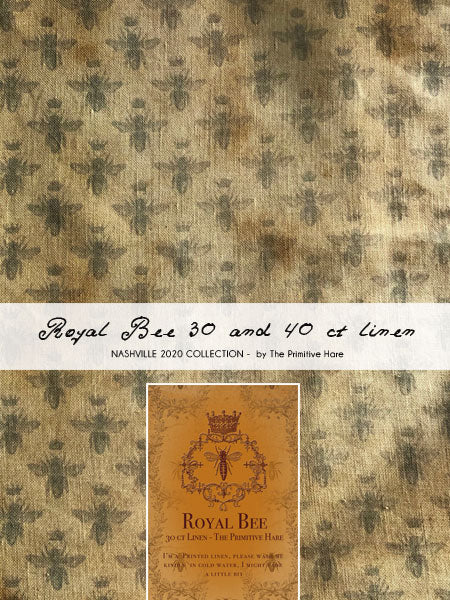 The Primitive Hare ~ 40 ct Royal Bee Linen   *LIMITED # AVAILABLE!