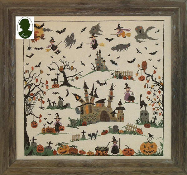 Sara Guermani ~ Halloween w/hand-painted wood buttons