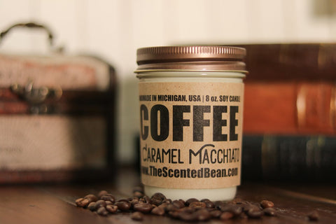 The Scented Bean - Caramel Macchiato Coffee 8 oz Candle