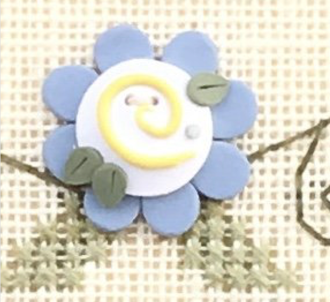 Shepherd's Bush Kits ~ Blue Flower Button w/free chart