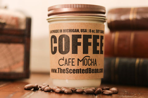 The Scented Bean - Cafe Mocha Coffee 8 oz Candle